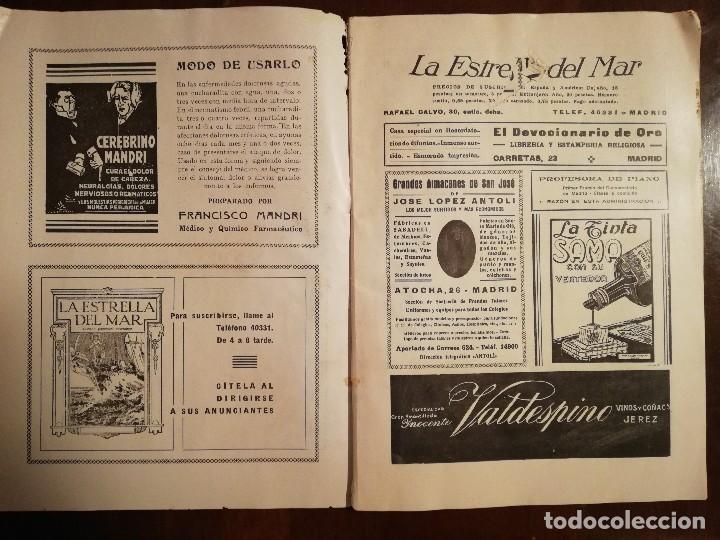 Coleccionismo de Revistas y Periódicos: REVISTA LA ESTRELLA DEL MAR - MONASTERIO DE GUADALUPE , EL HUMILLADERO Año 1935 - Foto 7 - 109055191