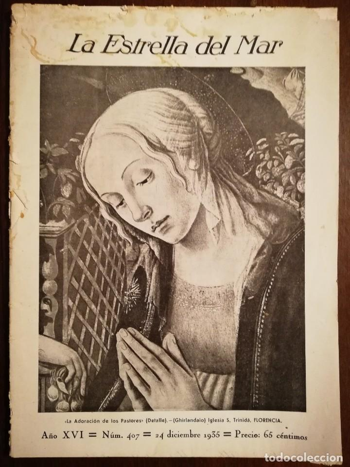 REVISTA LA ESTRELLA DEL MAR - LOS SIETE DOLORES DE LA SANTISIMA VIRGEN -CATEDRAL DE AMBERES AÑO 1931 (Coleccionismo - Revistas y Periódicos Antiguos (hasta 1.939))