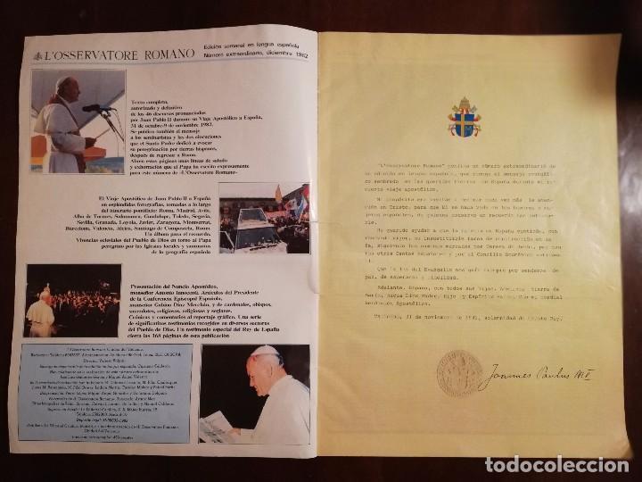 Coleccionismo de Revistas y Periódicos: REVISTA DEL VIAJE APOSTOLICO DE JUAN PABLO II A ESPAÑA 1982 - L´OSSERVATORE ROMANO - Foto 2 - 109055471