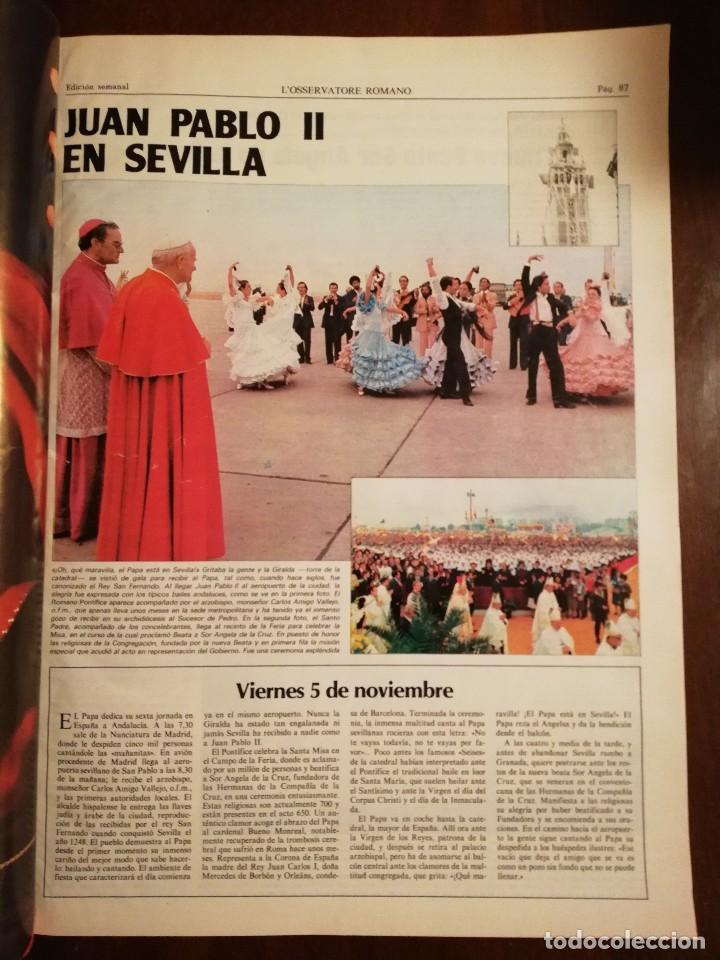 Coleccionismo de Revistas y Periódicos: REVISTA DEL VIAJE APOSTOLICO DE JUAN PABLO II A ESPAÑA 1982 - L´OSSERVATORE ROMANO - Foto 7 - 109055471