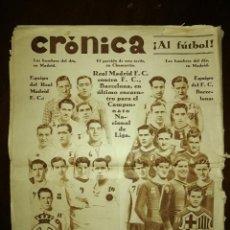 Coleccionismo de Revistas y Periódicos: REVISTA SEMANAL CRÓNICA - MARZO 1930 . MADRID - BARÇA. Lote 109059615