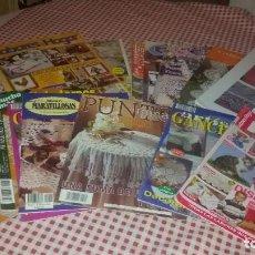 Coleccionismo de Revistas y Periódicos: LOTE DE 14 REVISTAS DE GANCHILLO,LABORES DEL HOGAR,PUNTO DE RAMA,MANOS MARAVILLOSAS,GANCHILLO ARTIST. Lote 109068967