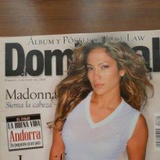 Coleccionismo de Revistas y Periódicos: REVISTA EL DOMINICAL. 4 JUNIO 2000 JENNIFER LOPEZ. Lote 109070976
