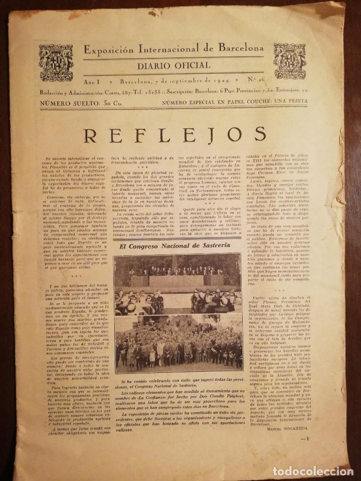 EXPOSICION INTERNACIONAL DE BARCELONA -SEPTIEMBRE 1929 Nº 26 (Coleccionismo - Revistas y Periódicos Antiguos (hasta 1.939))