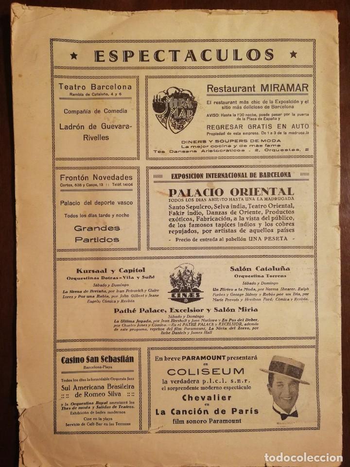 Coleccionismo de Revistas y Periódicos: EXPOSICION INTERNACIONAL DE BARCELONA -Septiembre 1929 Nº 26 - Foto 2 - 109133643