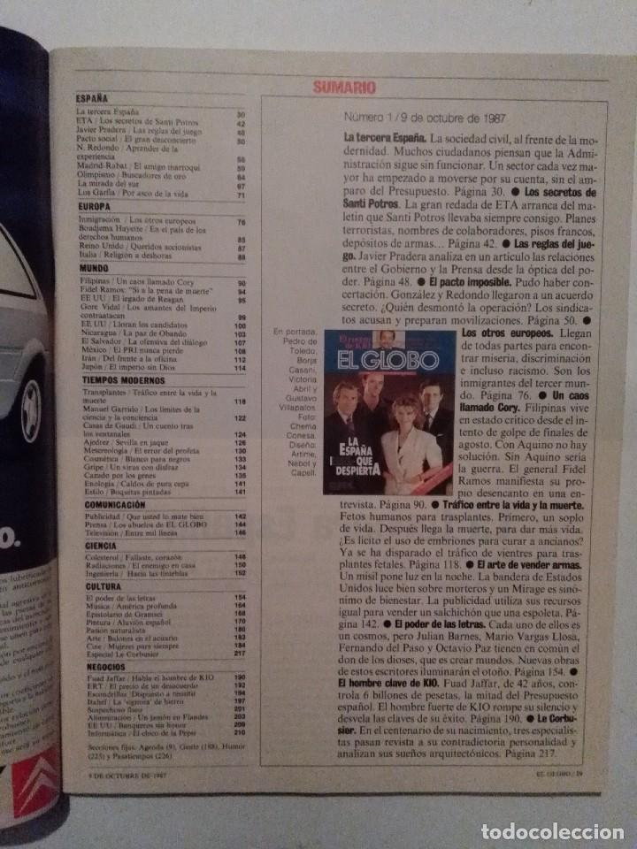 Coleccionismo de Revistas y Periódicos: EL GLOBO Nº 1. ETA SANTI POTROS. LAS CASAS DE GAUDI. KIO HUAD JAFFAR. LE CORBUSIER - Foto 2 - 109141703