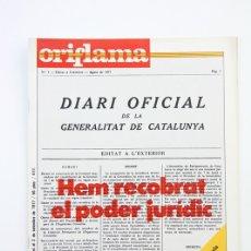Coleccionismo de Revistas y Periódicos: PUBLICACIÓN/REVISTA EN CATALÁN- ORIFLAMA /HEM RECOBRAT.. - Nº 14 - 27 DE AGOSTO AL 2 SEPTIEMBRE 1977. Lote 109275296