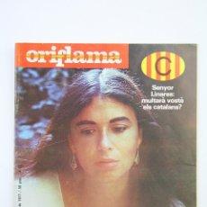 Coleccionismo de Revistas y Periódicos: PUBLICACIÓN/REVISTA EN CATALÁN - ORIFLAMA / MARÍA DEL MAR BONET - Nº 24 - DEL 5 AL 11 NOVIEMBRE 1977. Lote 109275588