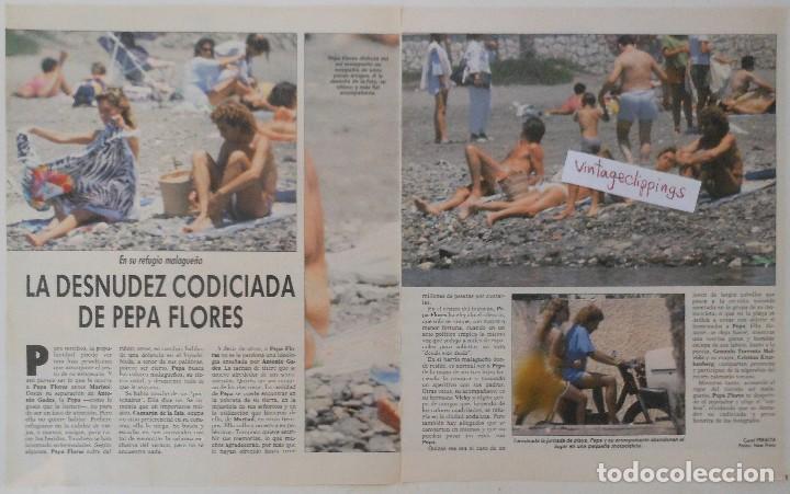 Marisol Pepa Flores 1987 Artículo 4 Páginas Desnuda Interviú Topless Fotos Clippings Revista