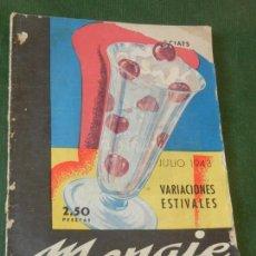 Coleccionismo de Revistas y Periódicos: MENAJE, N. 151 - JULIO 1943, REVISTA MENSUAL PARA LA MUJER Y EL HOGAR. Lote 109453263