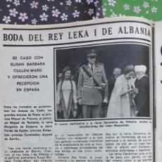 Collectionnisme de Revues et Journaux: REY LEKA I DE ALBANIA DON ALFONSO DE BORBON . Lote 109502419