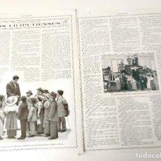Coleccionismo de Revistas y Periódicos: REPORTAJE REVISTA ORIGINAL 1914-1915. LOS LILIPUTIENSES. Lote 109543371