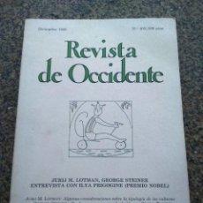 Coleccionismo de Revistas y Periódicos: REVISTA DE OCCIDENTE -- Nº 103 -- DICIEMBRE 1989 -- . Lote 109595127