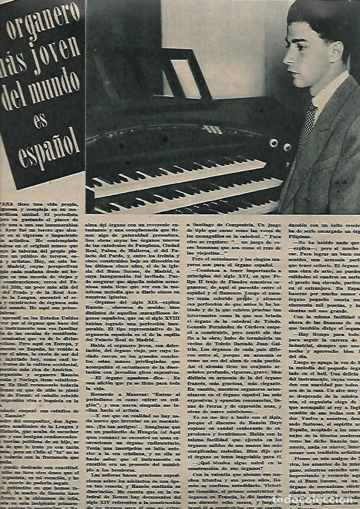 AÑO 1947 RAMON GONZALEZ DE AMEZUA ORGANISTA MUSICA BELLA AURORA DOCTOR CARDENAL MEDICINA FEO PERRO (Coleccionismo - Revistas y Periódicos Modernos (a partir de 1.940) - Otros)