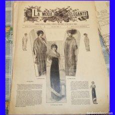 Coleccionismo de Revistas y Periódicos: LA MODA ELEGANTE 1911 REVISTA 46  - - MIRALA. Lote 109622255