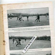 Coleccionismo de Revistas y Periódicos: REVISTA AÑO 1915 FUTBOL CLUB BARCELONA F. C. ESPAÑOL RCD PERIS BRU PORTERO GIBERT EN TARRASA. Lote 109638675