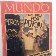 Coleccionismo de Revistas y Periódicos: MUNDO 16 DICIEMBRE 1972. TÚNELES DEL TIBIDABO. JAPÓN. PERDÓN. ORIUNDOS EN EL FÚTBOL, BAR¢A. Lote 109724955