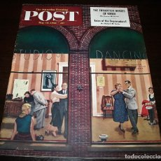 Coleccionismo de Revistas y Periódicos: REVISTA - THE SATURDAY EVENING POST - 10/MAYO/1952 - ILUSTRADOR PORTADA: STEVAN DOHANOS. Lote 110002987