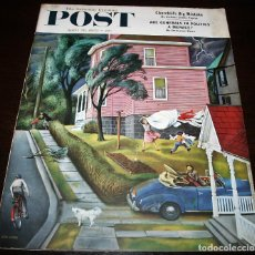 Coleccionismo de Revistas y Periódicos: REVISTA - THE SATURDAY EVENING POST - 26/ABRIL/1952 - ILUSTRADOR PORTADA: JOHN FALTER. Lote 110002999