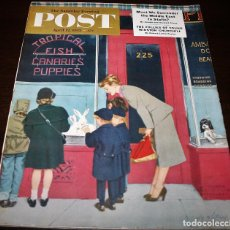 Coleccionismo de Revistas y Periódicos: REVISTA - THE SATURDAY EVENING POST - 12/ABRIL/1952 - ILUSTRADOR PORTADA: COBY WHITMORE. Lote 110003015