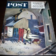 Coleccionismo de Revistas y Periódicos: REVISTA - THE SATURDAY EVENING POST - 8/MARZO/1952 - ILUSTRADOR PORTADA: STEVAN DOHANOS. Lote 110003047