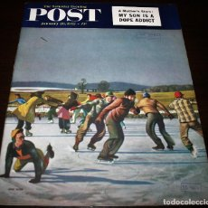 Coleccionismo de Revistas y Periódicos: REVISTA - THE SATURDAY EVENING POST - 26/ENERO/1952 - ILUSTRADOR PORTADA: JOHN FALTER. Lote 110003111