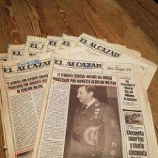 Coleccionismo de Revistas y Periódicos: LOTE DE OCHO (8) PERIÓDICOS EL ALCÁZAR - AÑO 1981. Lote 110012295