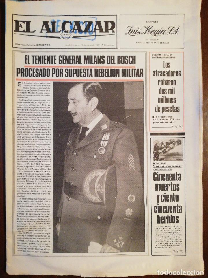 Coleccionismo de Revistas y Periódicos: Lote de ocho (8) periódicos EL ALCÁZAR - Año 1981 - Foto 2 - 110012295
