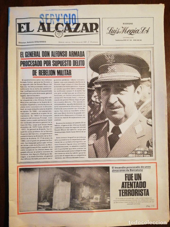 Coleccionismo de Revistas y Periódicos: Lote de ocho (8) periódicos EL ALCÁZAR - Año 1981 - Foto 4 - 110012295