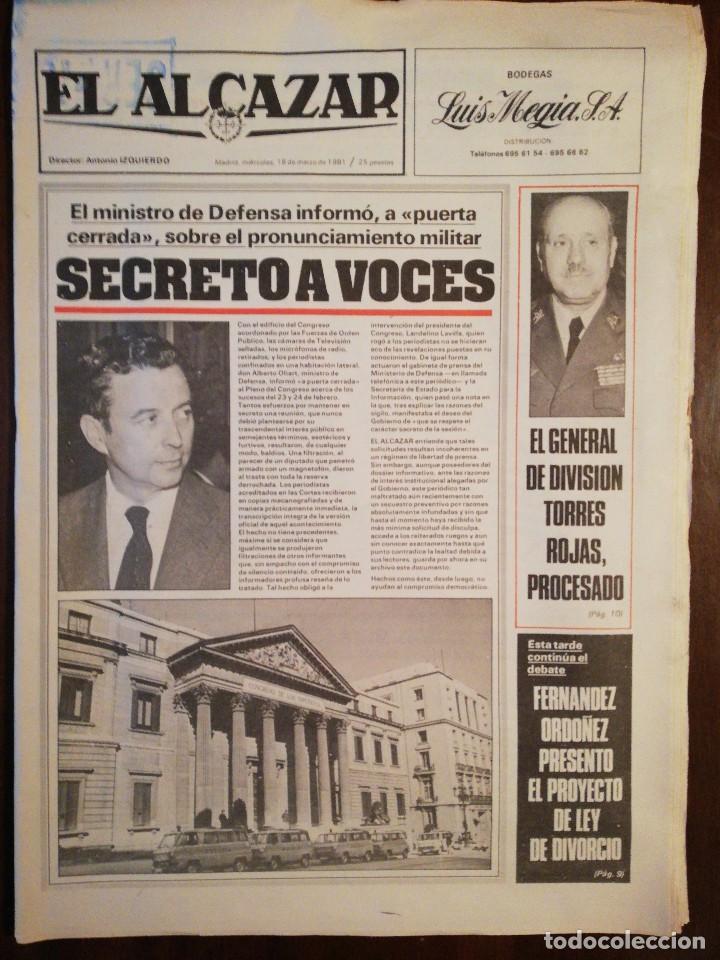 Coleccionismo de Revistas y Periódicos: Lote de ocho (8) periódicos EL ALCÁZAR - Año 1981 - Foto 6 - 110012295