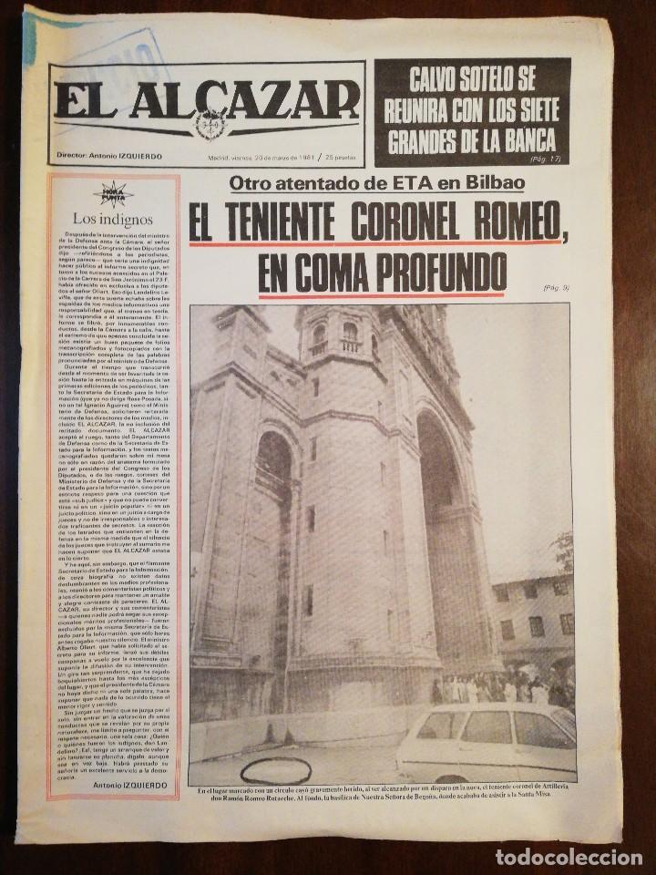 Coleccionismo de Revistas y Periódicos: Lote de ocho (8) periódicos EL ALCÁZAR - Año 1981 - Foto 8 - 110012295
