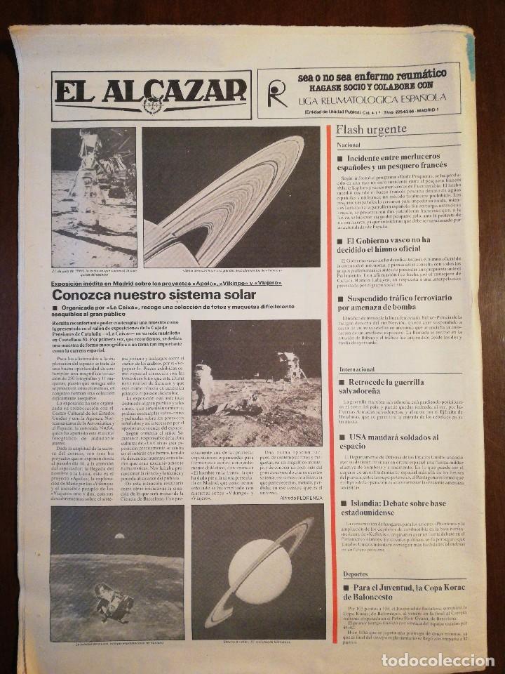 Coleccionismo de Revistas y Periódicos: Lote de ocho (8) periódicos EL ALCÁZAR - Año 1981 - Foto 9 - 110012295