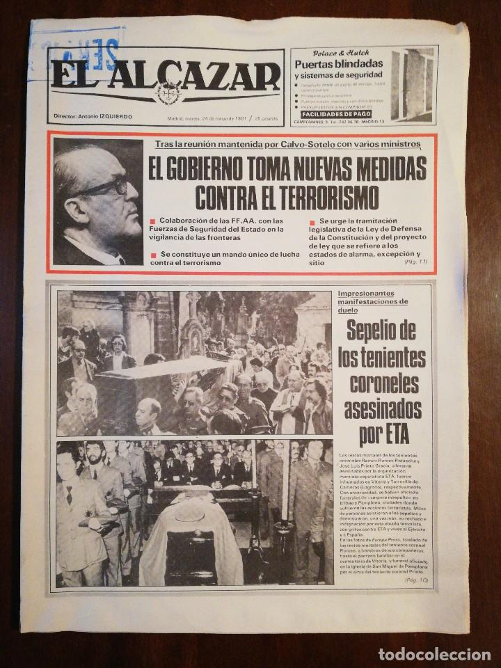 Coleccionismo de Revistas y Periódicos: Lote de ocho (8) periódicos EL ALCÁZAR - Año 1981 - Foto 10 - 110012295
