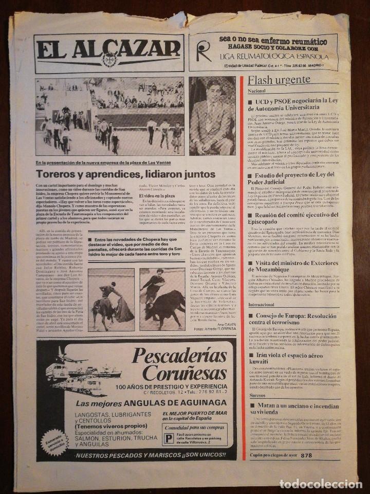 Coleccionismo de Revistas y Periódicos: Lote de ocho (8) periódicos EL ALCÁZAR - Año 1981 - Foto 13 - 110012295