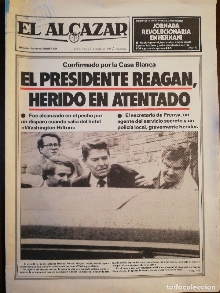 Coleccionismo de Revistas y Periódicos: Lote de ocho (8) periódicos EL ALCÁZAR - Año 1981 - Foto 14 - 110012295