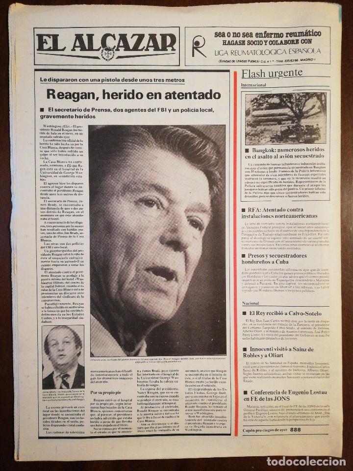 Coleccionismo de Revistas y Periódicos: Lote de ocho (8) periódicos EL ALCÁZAR - Año 1981 - Foto 15 - 110012295