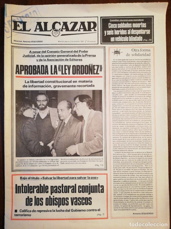 Coleccionismo de Revistas y Periódicos: Lote de ocho (8) periódicos EL ALCÁZAR - Año 1981 - Foto 16 - 110012295