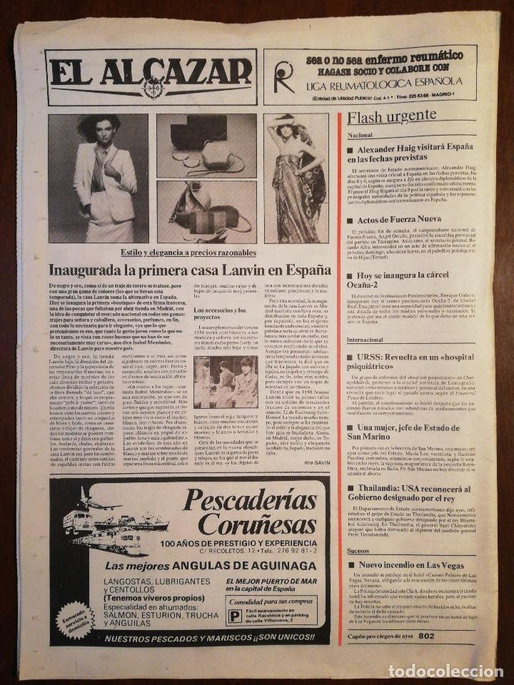 Coleccionismo de Revistas y Periódicos: Lote de ocho (8) periódicos EL ALCÁZAR - Año 1981 - Foto 17 - 110012295
