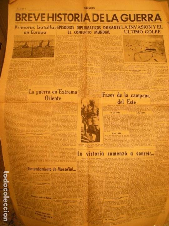 Coleccionismo de Revistas y Periódicos: AMANECER DIARIO DE FALANGE ESPAÑOLA SEGUNDA GUERRA MUNDIAL - Foto 2 - 110048679