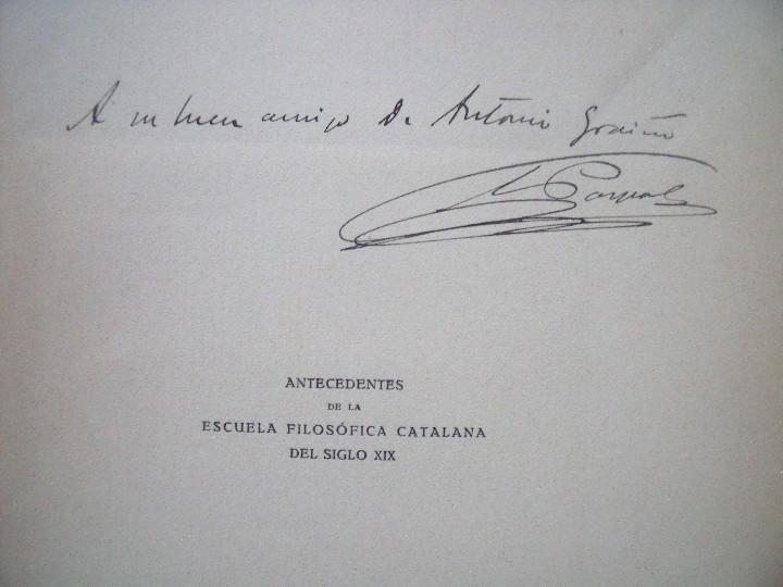 Coleccionismo de Revistas y Periódicos: COSME PARPAL Y MARQUES.-ANTECEDENTES DE LA ESCUELA FILOSOFICA CATALANA.-BARCELONA.-AÑO 1914. - Foto 2 - 110244647