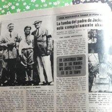 Coleccionismo de Revistas y Periódicos: JACKIE ONASSIS KENNEDY JOHN VERNON BOUVIER . Lote 110278435