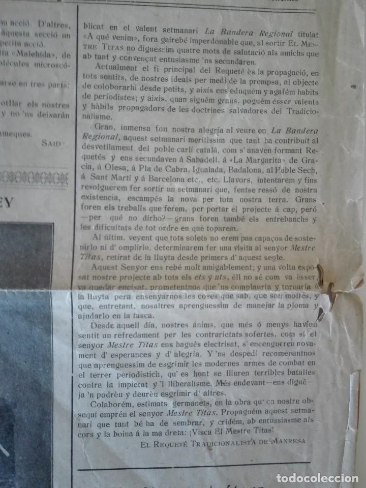 Coleccionismo de Revistas y Periódicos: El Mestre Titas. Barcelona 4 de Janer de 1910. Any 1, Num. 1 . Tercera época. Barcelona , Manresa - Foto 3 - 110366931