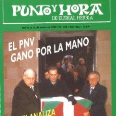 Coleccionismo de Revistas y Periódicos: PUNTO Y HORA DE EUSKAL HERRIA. 538. ENERO 1989. Lote 110478707
