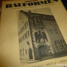 Coleccionismo de Revistas y Periódicos: MODERNE BAUFORMEN, REVISTAS ALEMANAS DE ARQUITECTURA, 2 DEL AÑO 1936, 11 DE 1942 Y 7 DE 1943. Lote 110509079