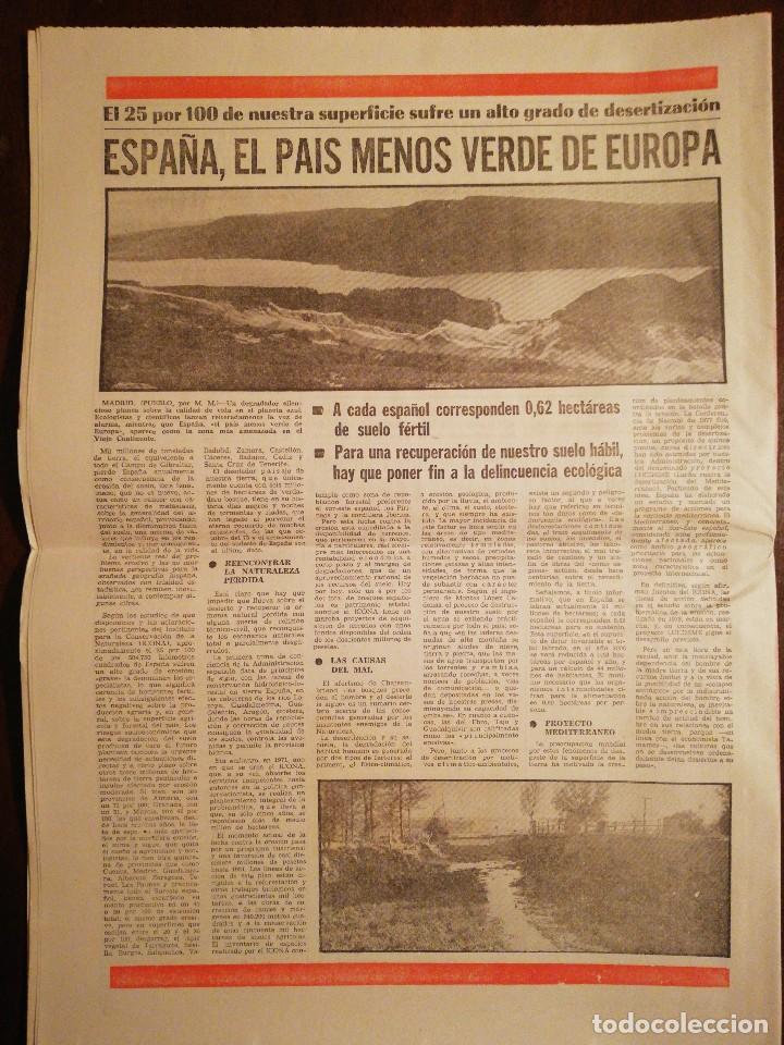 Coleccionismo de Revistas y Periódicos: Periódico Pueblo - El atentado contra el Teniente Coronel Romeo - Marzo de 1981 - Foto 3 - 110566583