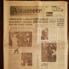Coleccionismo de Revistas y Periódicos: PERIÓDICO AMANECER DIARIO ARAGONÉS DEL MOVIMIENTO - FALANGE ESPAÑOLA - NOVIEMBRE 1958. Lote 110568047