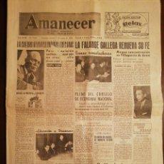 Coleccionismo de Revistas y Periódicos: PERIÓDICO AMANECER DIARIO ARAGONÉS DEL MOVIMIENTO - FALANGE ESPAÑOLA - MARZO 1959. Lote 110569615
