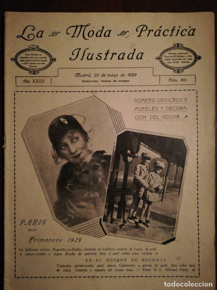 REVISTA LA MODA PRÁCTICA ILUSTRADA 20 DE MAYO DE 1929 - N°868 (Coleccionismo - Revistas y Periódicos Antiguos (hasta 1.939))