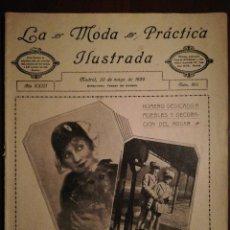 Coleccionismo de Revistas y Periódicos: REVISTA LA MODA PRÁCTICA ILUSTRADA 20 DE MAYO DE 1929 - N°868. Lote 110687939