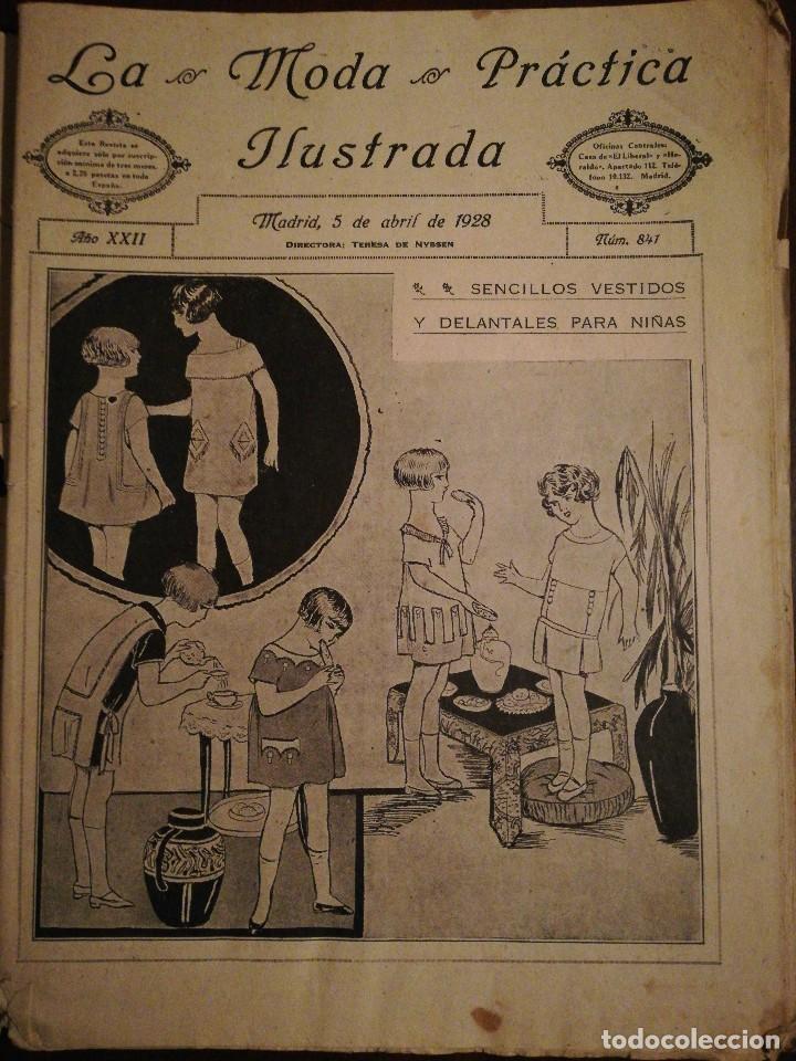 REVISTA LA MODA PRÁCTICA ILUSTRADA 5 DE ABRIL DE 1928 - N°841 (Coleccionismo - Revistas y Periódicos Antiguos (hasta 1.939))